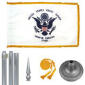 Chrome Coast Guard Flag Kit