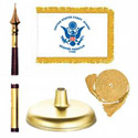 Oak And Brass Coast Guard Flag Kit