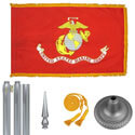 Chrome Marine Corps Flag Kit