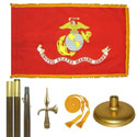 Oak And Brass Marine Corps Flag Kit