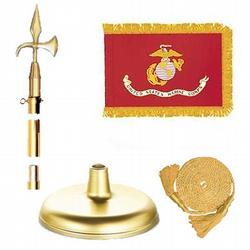 Brass Marine Corps Flag Kit, FBPP0000010942