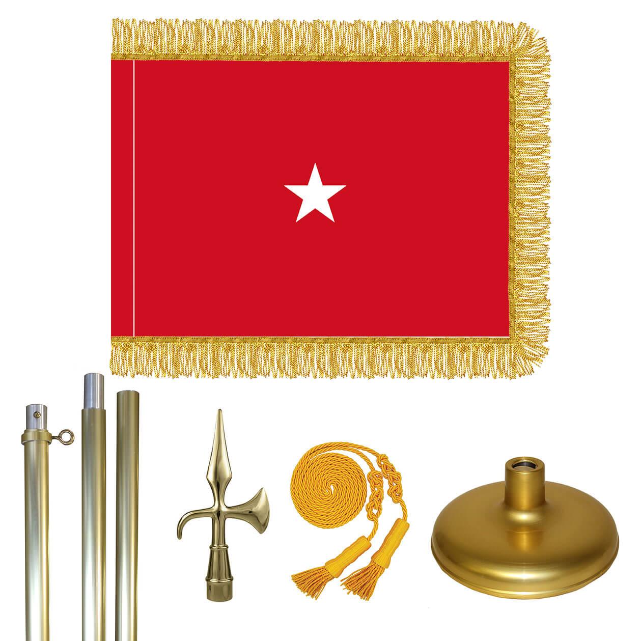 Brass marine corps brigadier general flag kit marine corps brigadier general flag kit brass pole buycottarizona Image collections