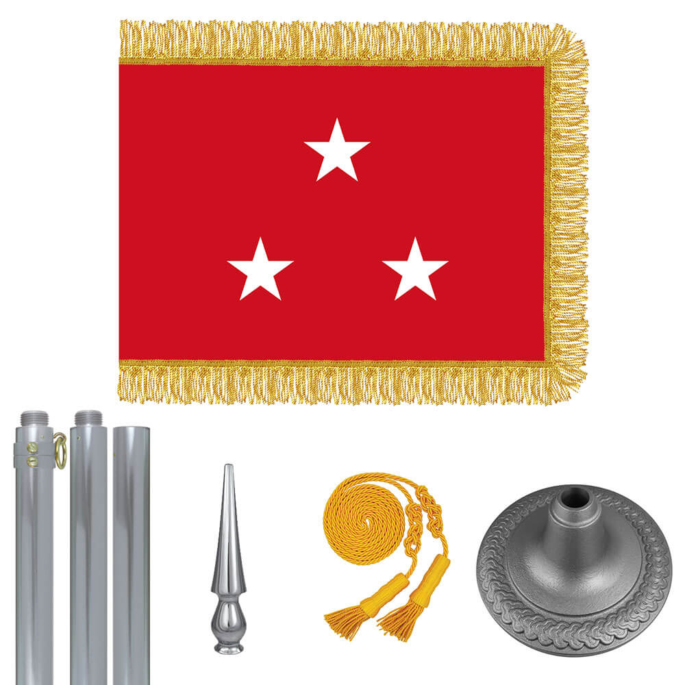 Chrome Marine Corps Lt. General Flag Kit, FBPP0000010958