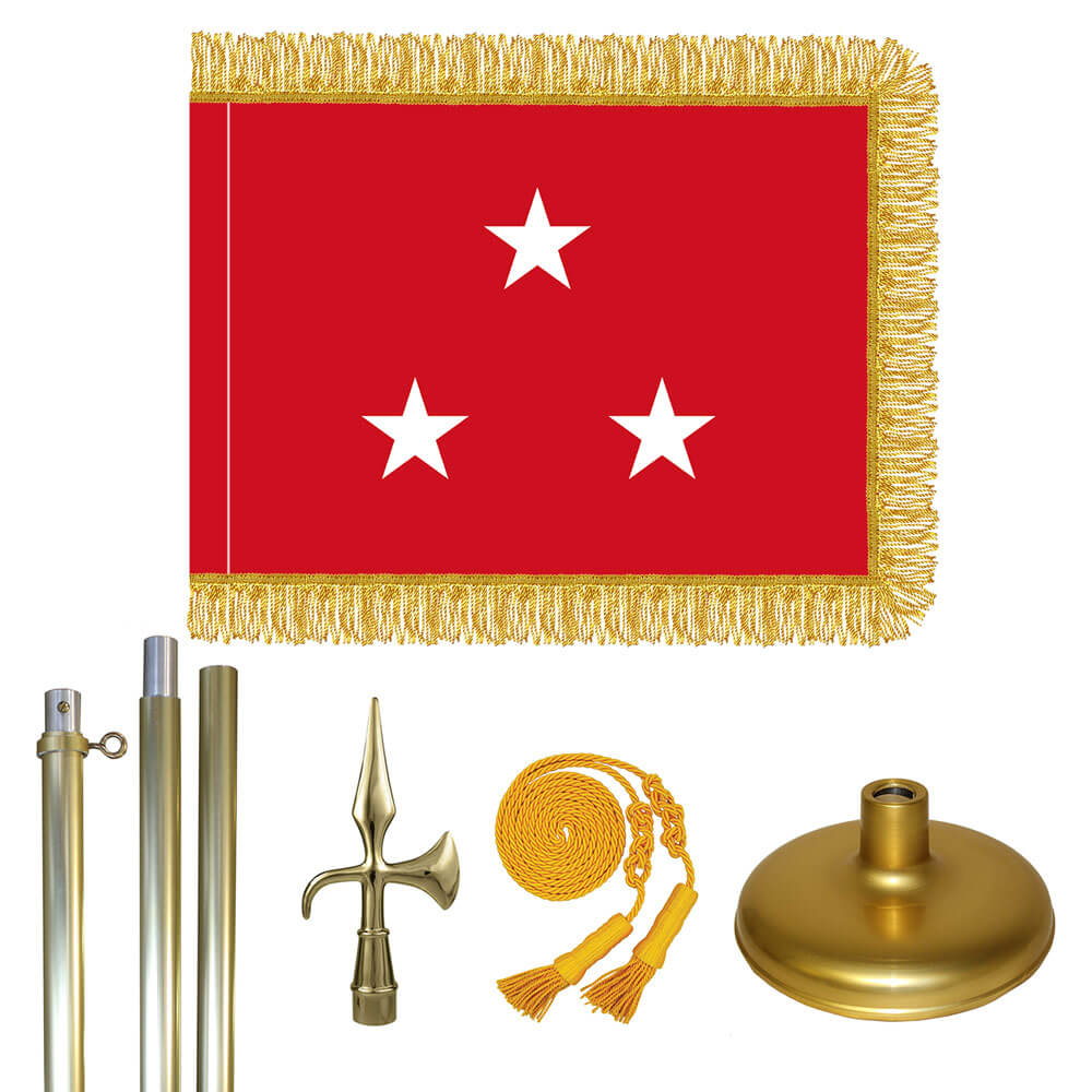 Brass Marine Corps Lt. General Flag Kit, FBPP0000010957