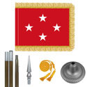 Oak And Chrome Marine Corps General Flag Kit