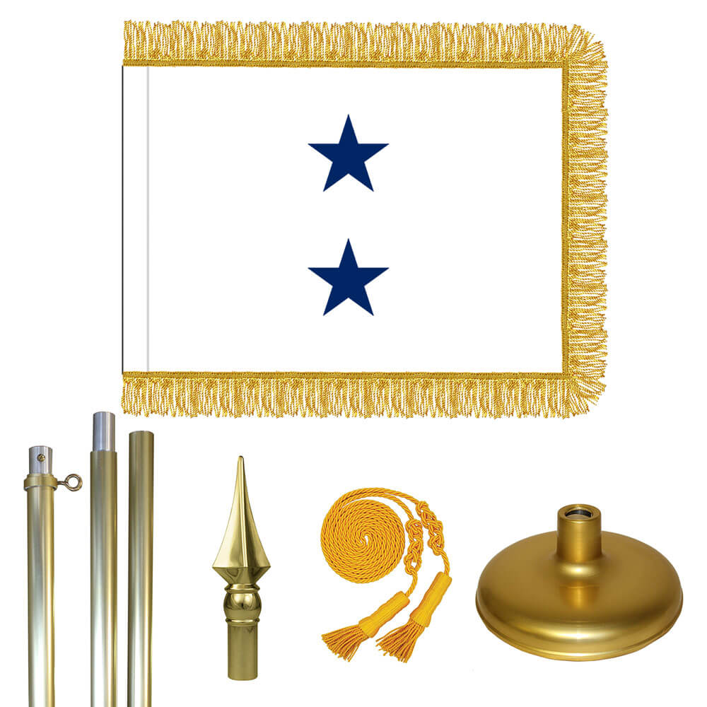 Brass Navy Not of the Line Rear Admiral Upper Half Flag Kit, FBPP0000011099