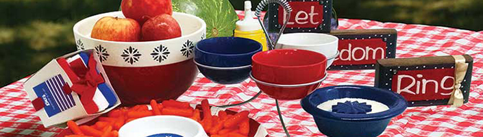 Patriotic Dining and Kitchen Ware and Decor