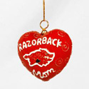Razorbacks Mom Heart Ornament, KK2718O