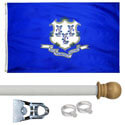 Connecticut Standard House Flag Kit, KSCT35HOME