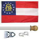 Georgia Standard House Flag Kit, KSGA35HOME