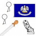 Louisiana Standard House Flag Kit, KSLA35HOME