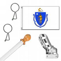 Massachusetts Standard House Flag Kit, KSMA35HOME