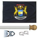 Michigan Standard House Flag Kit, KSMI35HOME