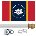 Mississippi Standard House Flag Kit, KSMS35HOME