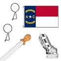 North Carolina Standard House Flag Kit, KSNC35HOME