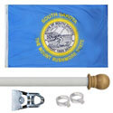 South Dakota Standard House Flag Kit, KSSD35HOME