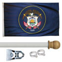 Utah Standard House Flag Kit, KSUT35HOME