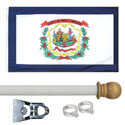 West Virginia Standard House Flag Kit, KSWV35HOME