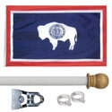 Wyoming Standard House Flag Kit, KSWY35HOME