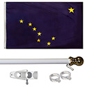 Alaska Tangle Free Flagpole Set