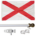 Alabama Tangle Free Flagpole Set