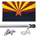 Arizona Tangle Free Flagpole Set