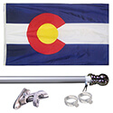Colorado Tangle Free Flagpole Set