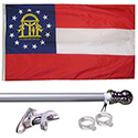 Georgia Tangle Free Flagpole Set