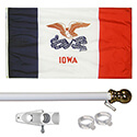 Iowa Tangle Free Flagpole Set