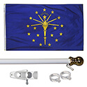 Indiana Tangle Free Flagpole Set