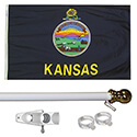 Kansas Tangle Free Flagpole Set