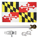 Maryland Tangle Free Flagpole Set