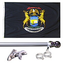 Michigan Tangle Free Flagpole Set