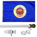 Minnesota Tangle Free Flagpole Set