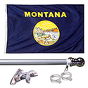 Montana Tangle Free Flagpole Set