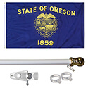 Oregon Tangle Free Flagpole Set