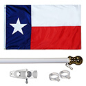 Texas Tangle Free Flagpole Set