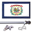 West Virginia Tangle Free Flagpole Set