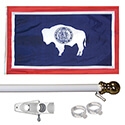 Wyoming Tangle Free Flagpole Set