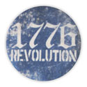 1776 Revolution Fabric Button Pin, LA273187