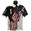 Eagle Flag Polo Shirt
