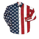 Stars and Stripes Long Sleeved Shirt, LEL1011PUSAM