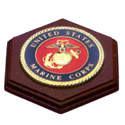 Marine Corps Military Emblem Paperweight, LKS75MAR4