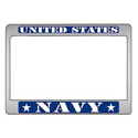 Navy Motorcycle License Plate Frame, LP2990N