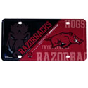 Arkansas Razorbacks License Plate, LP360101