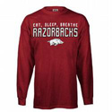 Eat, Sleep, Breathe Razorbacks Long Sleeve T-Shirt
