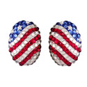 Patriotic Oval Earrings, LSP2335