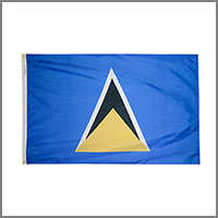 St. Lucia Flags