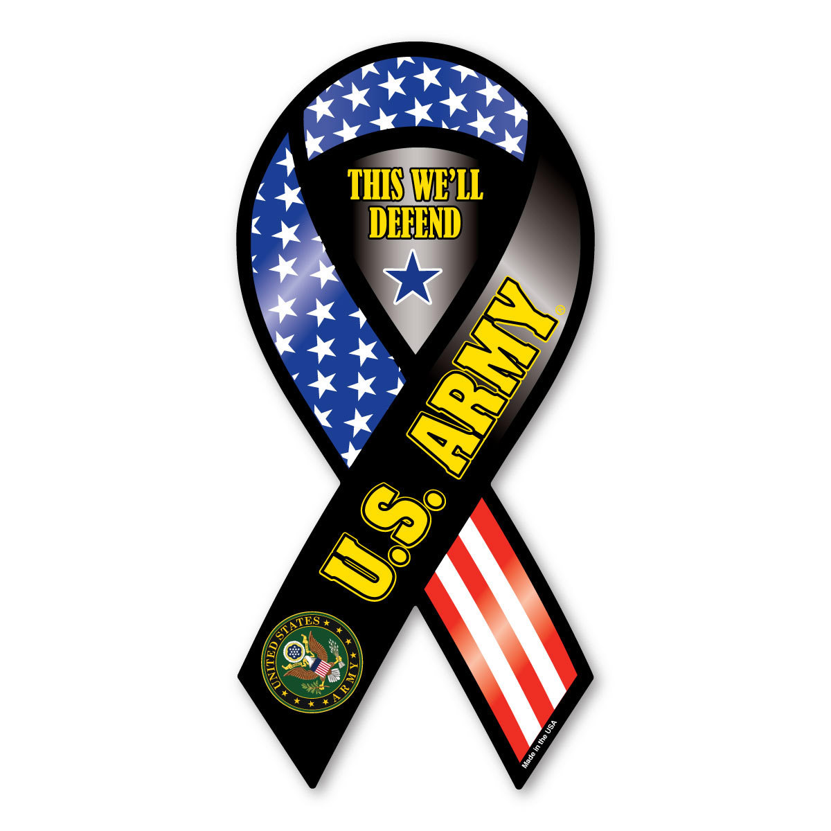 Best Military Branch To Join >> U.S. Army Ribbon Magnet- This Well Defend