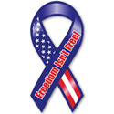 Freedom Isn't Free ribbon magnet, MAGFRM